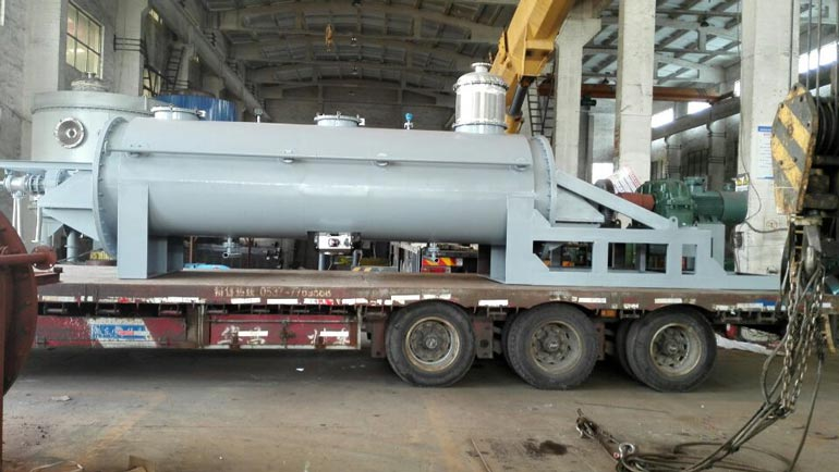 Delivery Paddle Dryer to Japan Customer